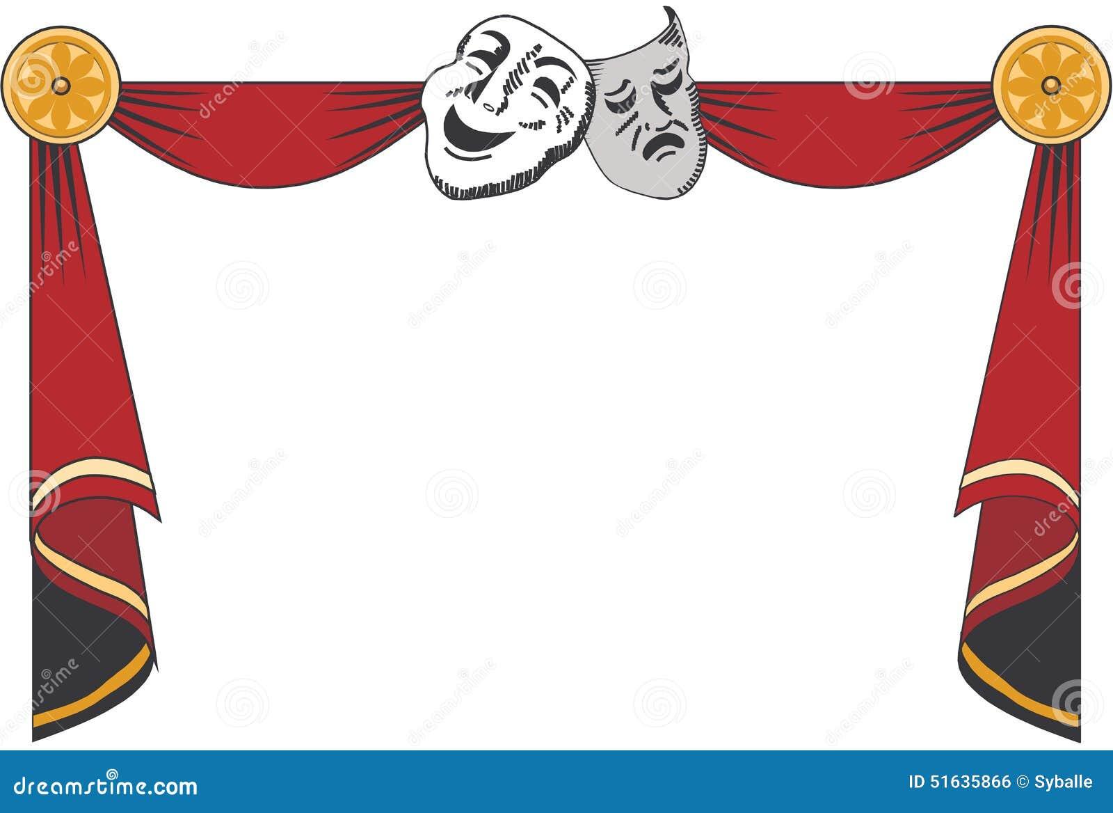 rideaux en th tre avec des masques illustration de vecteur illustration du illustration. Black Bedroom Furniture Sets. Home Design Ideas