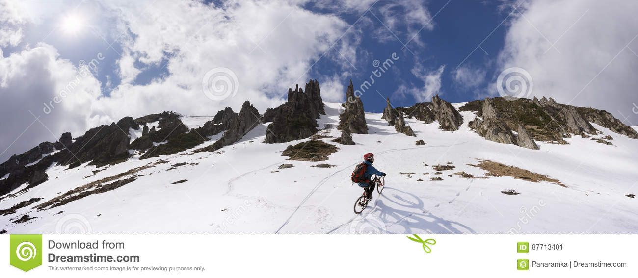 rider on a mountain bike stock image image of bicycling. Black Bedroom Furniture Sets. Home Design Ideas