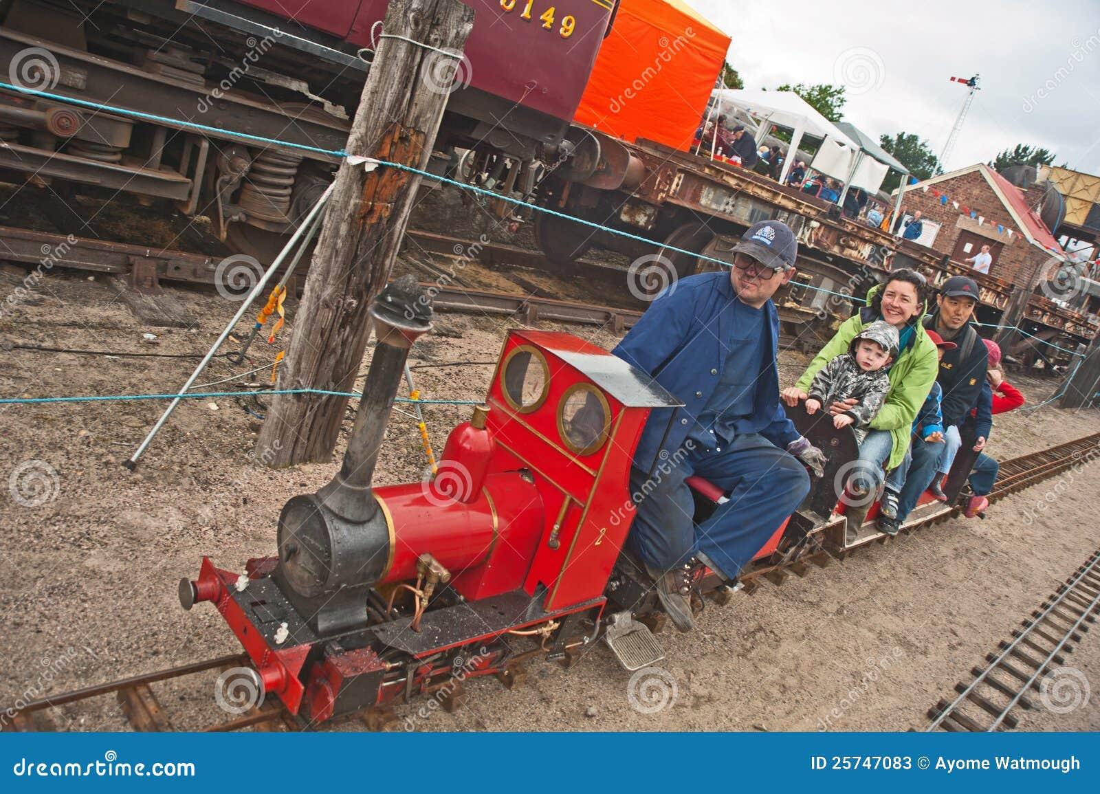 Rides on model steam railway