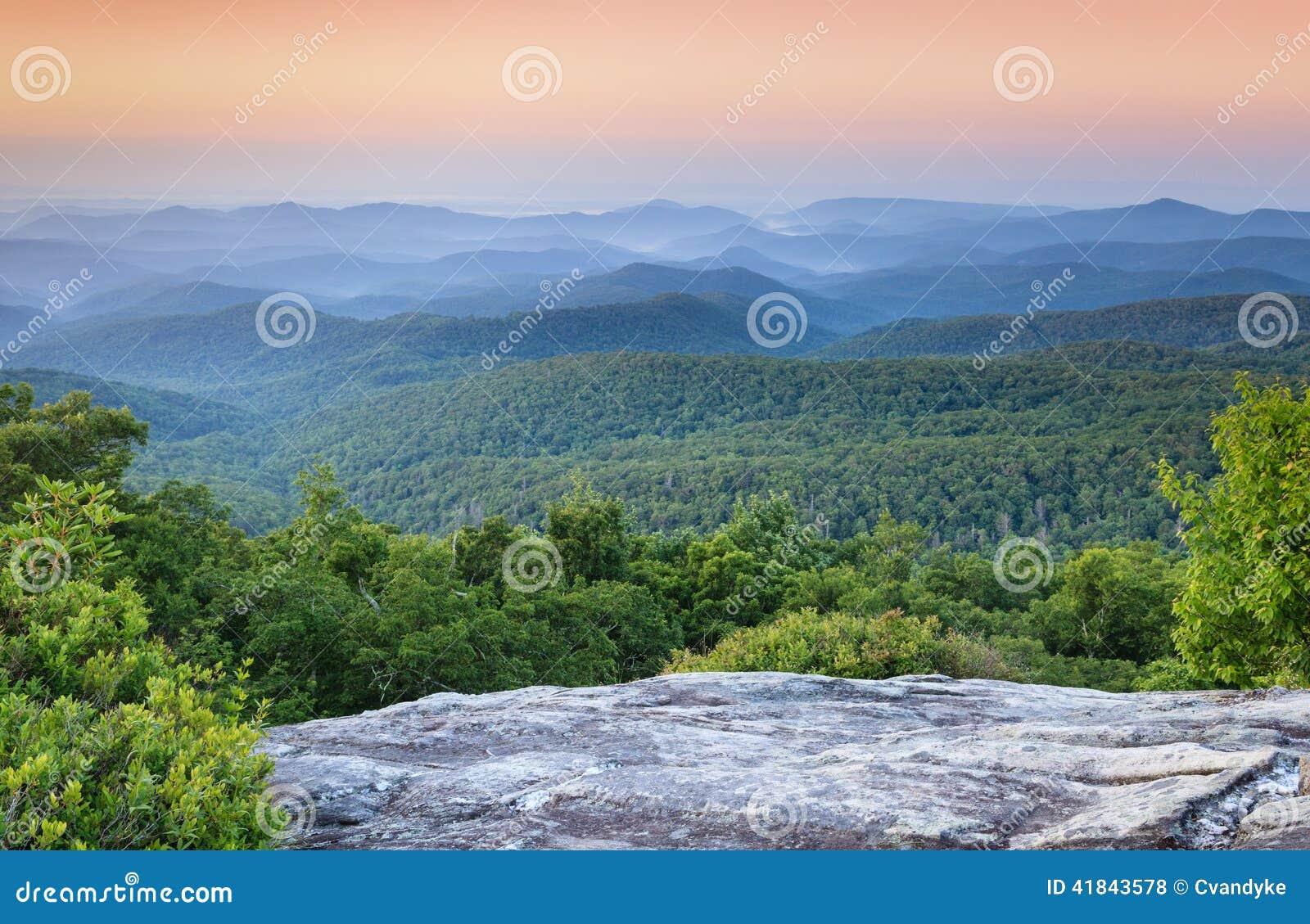Ridge Appalachian Mountains Western North azul Carolina NC