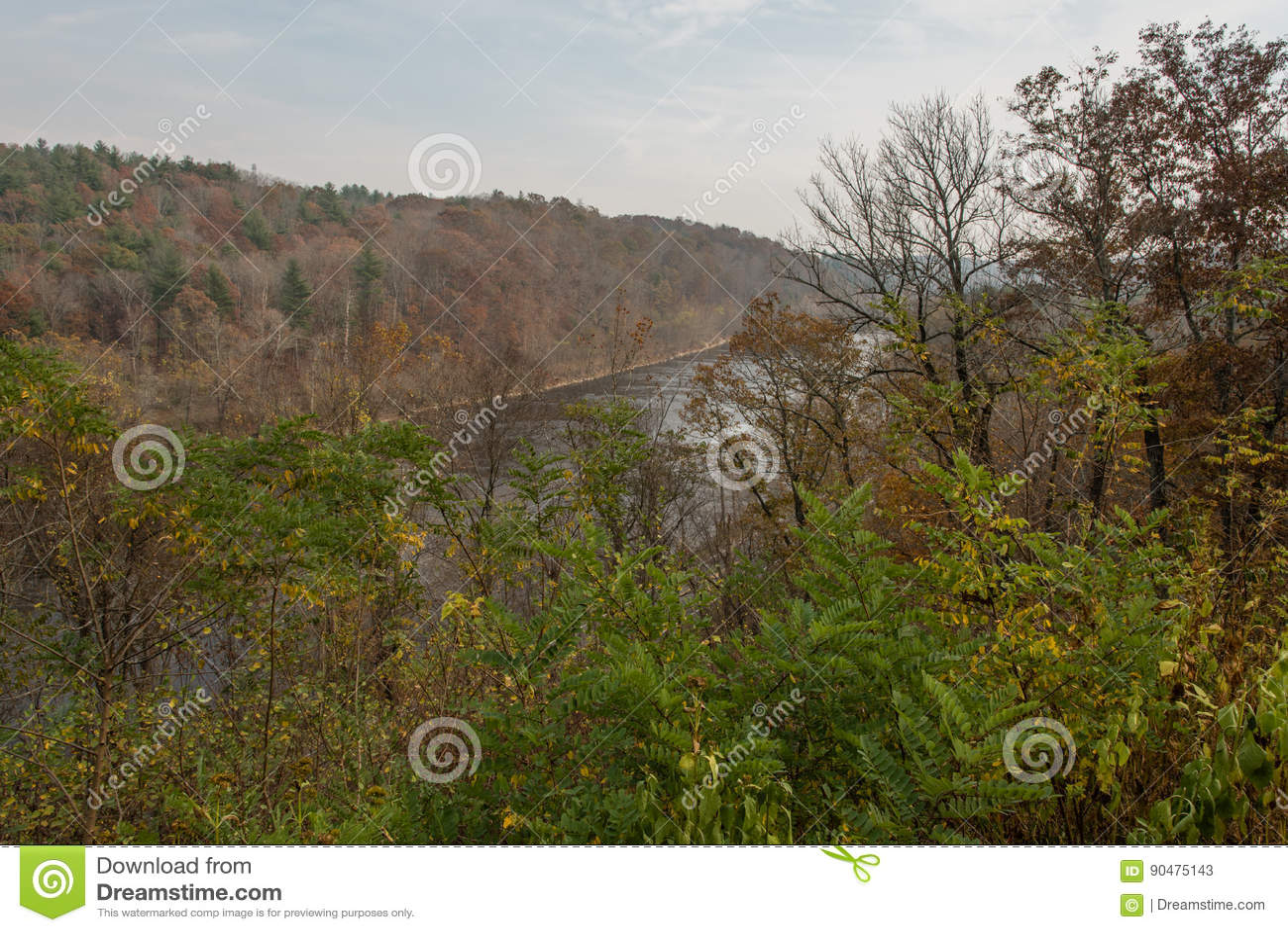 Ridge Parkway blu, vasto fiume francese