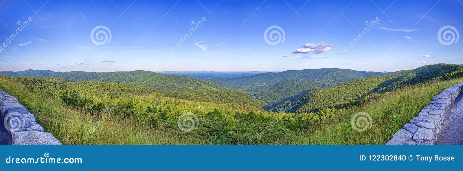 Ridge Parkway Mountains Panorama azul