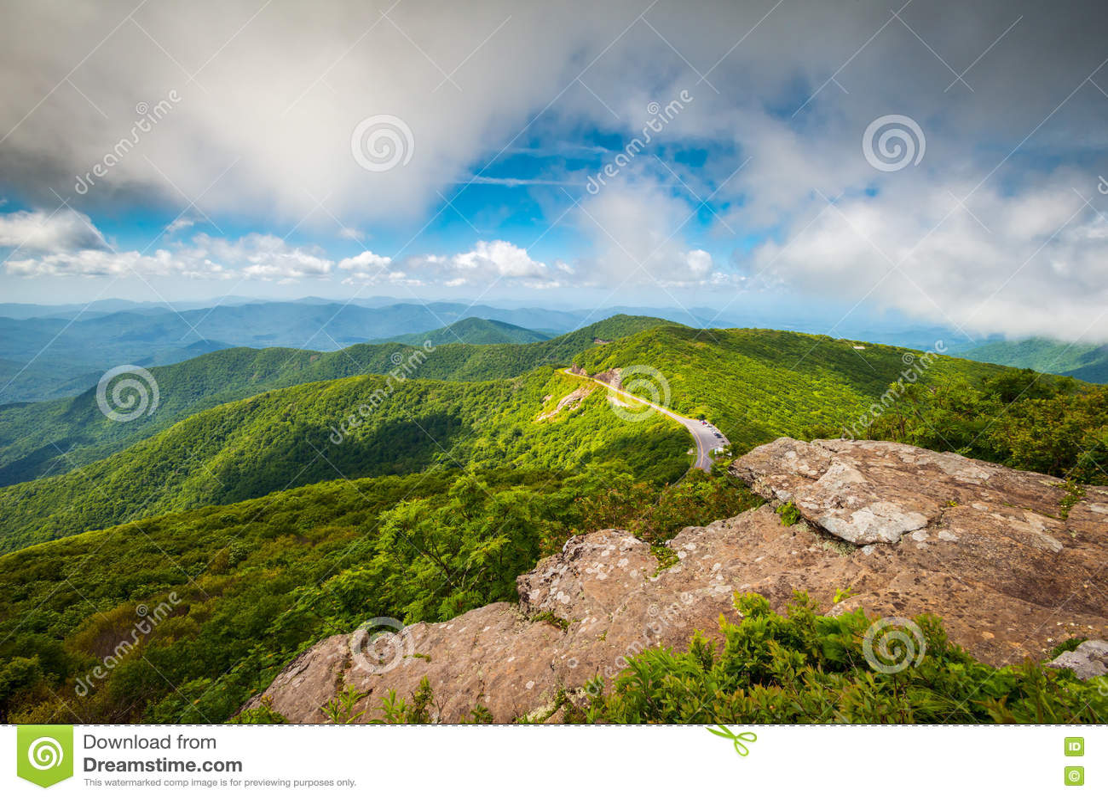 Ridge Parkway North Carolina Mountains azul escénico al aire libre