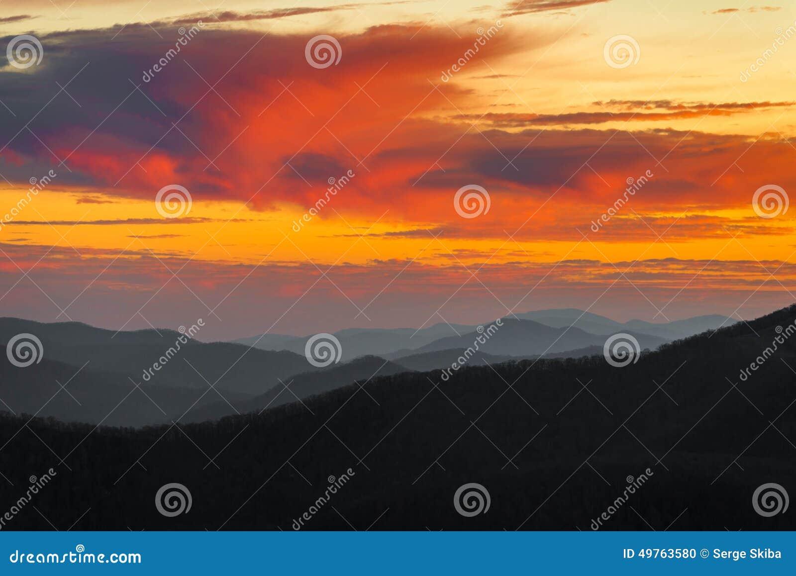 Ridge Sunset azul excitante