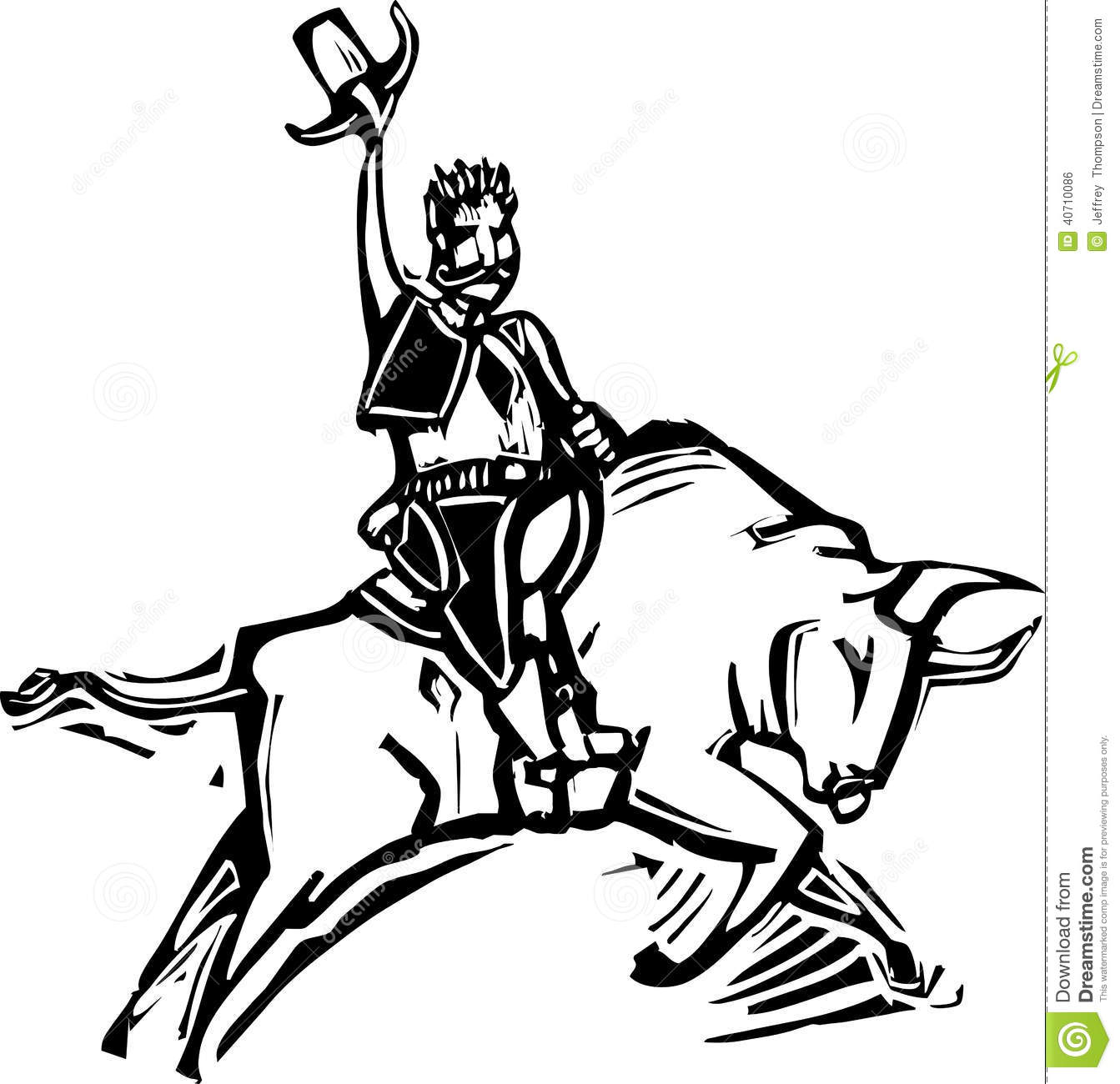 bull riding coloring pages - free bull rider coloring pages