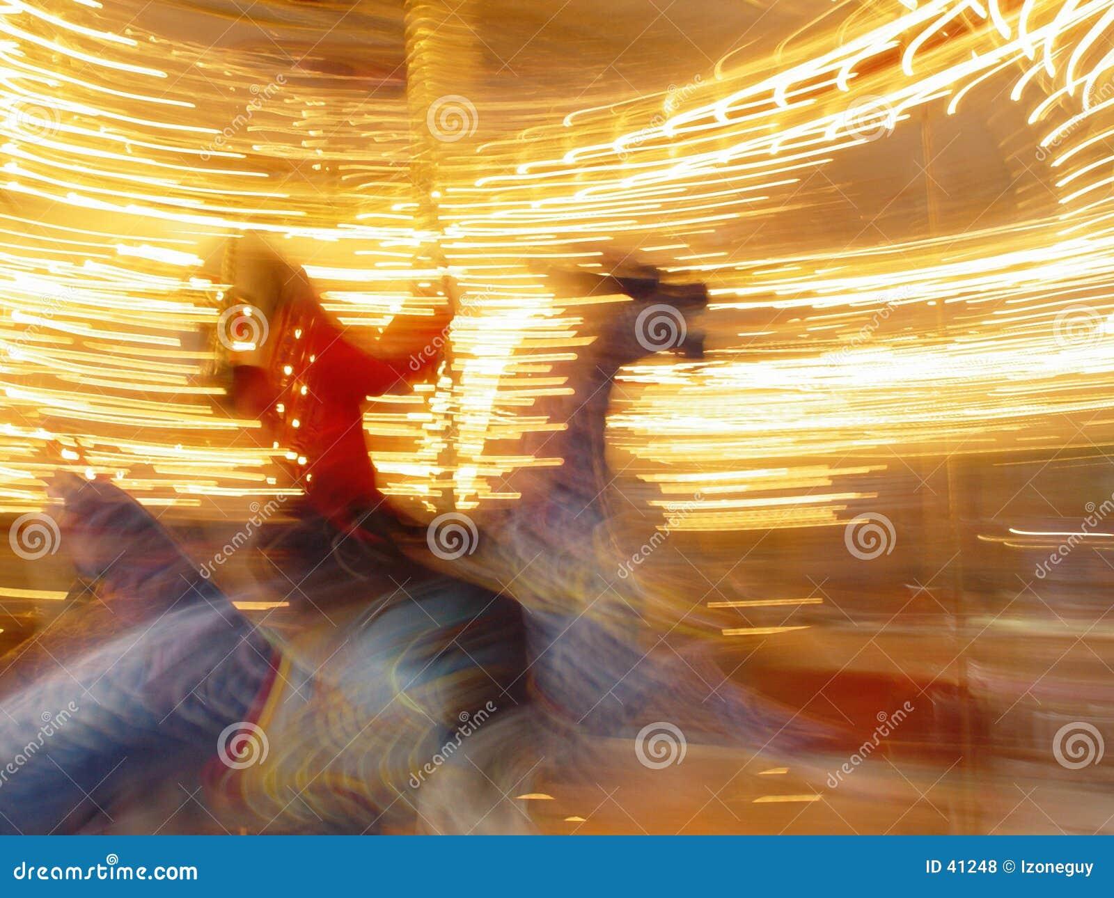 Riding carousel