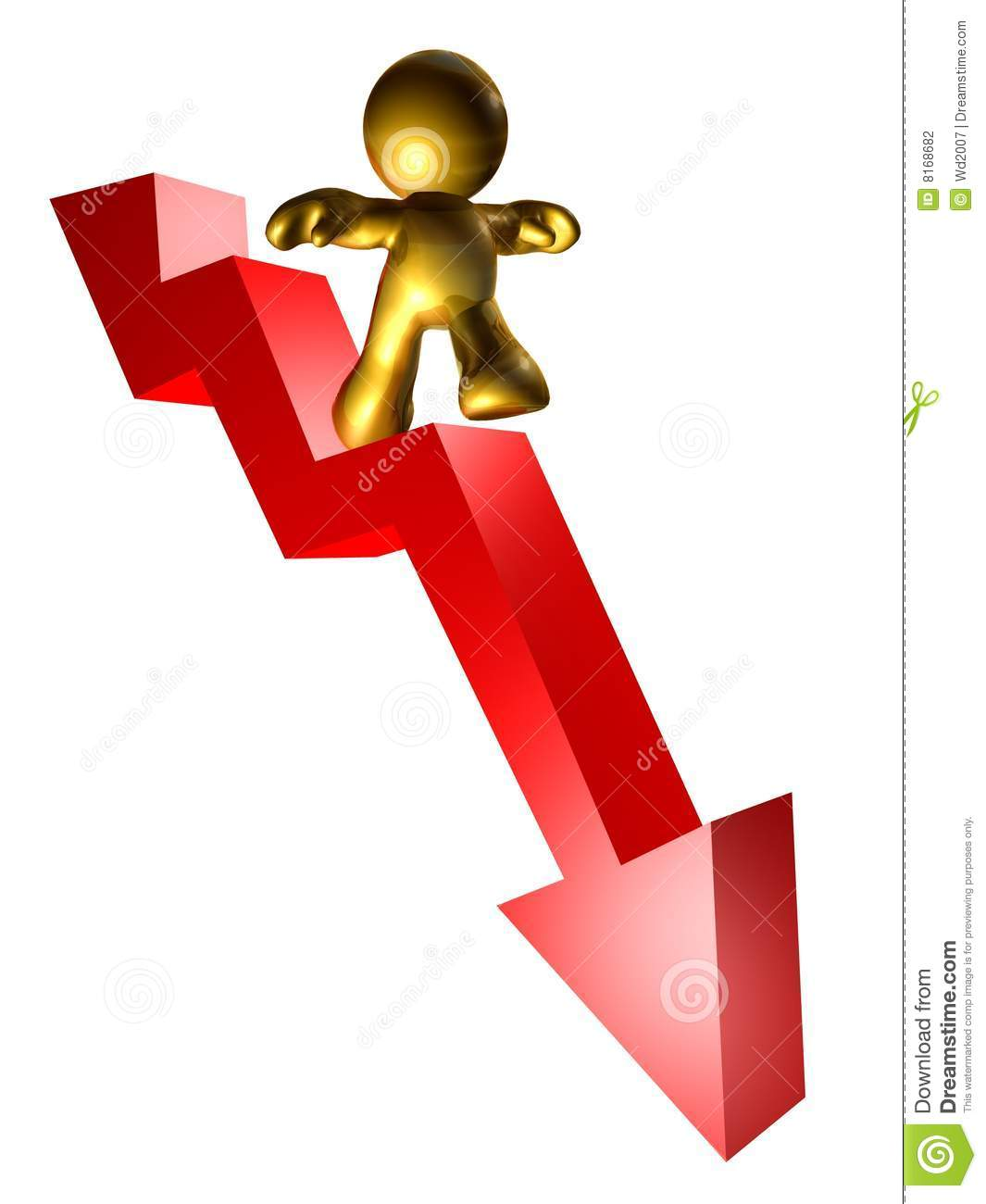 Riding The Down Trend Arrow Stock Illustration ...