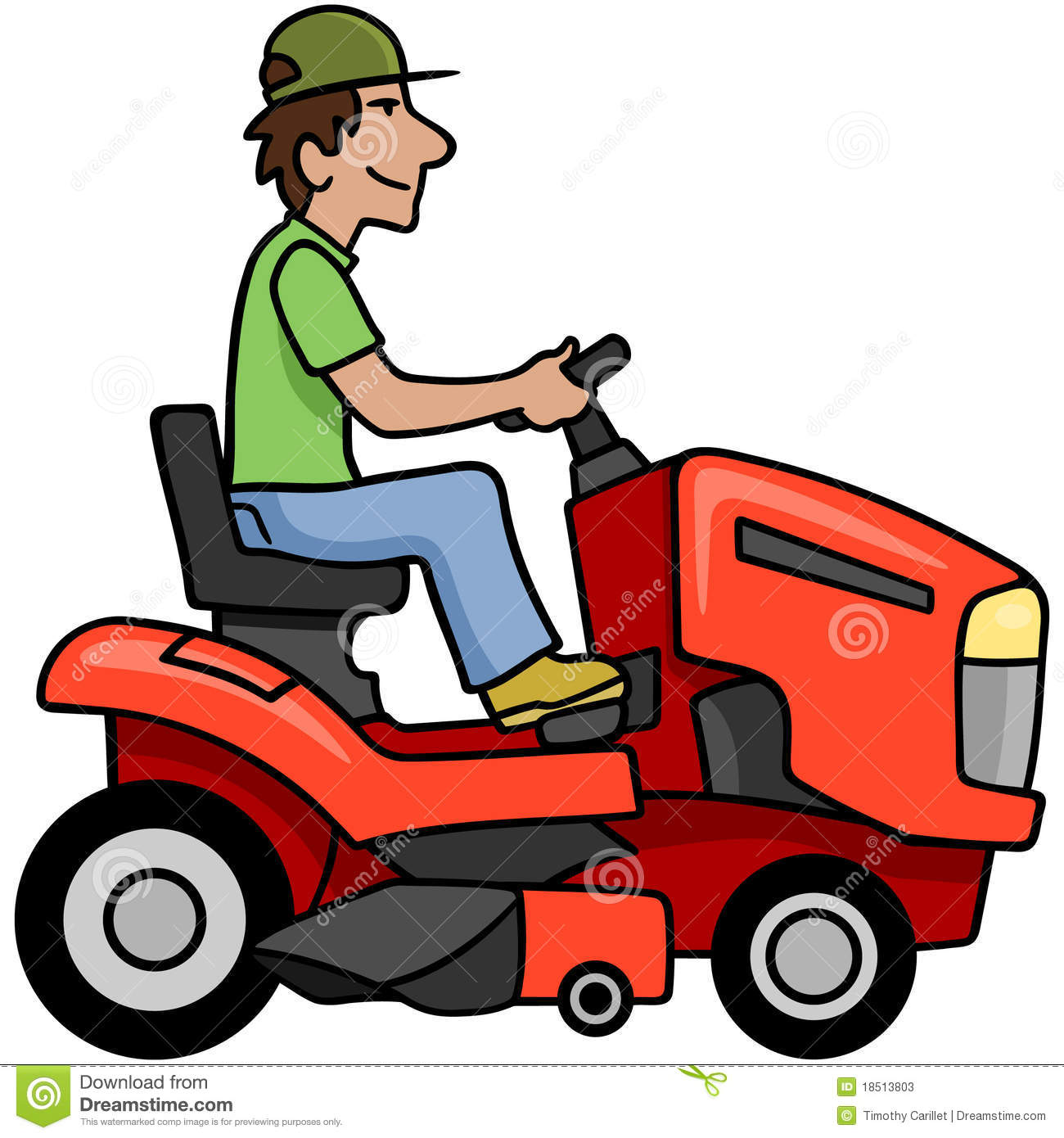 Man On Tractor Lawn Enforcment : Riding mower stock photos image