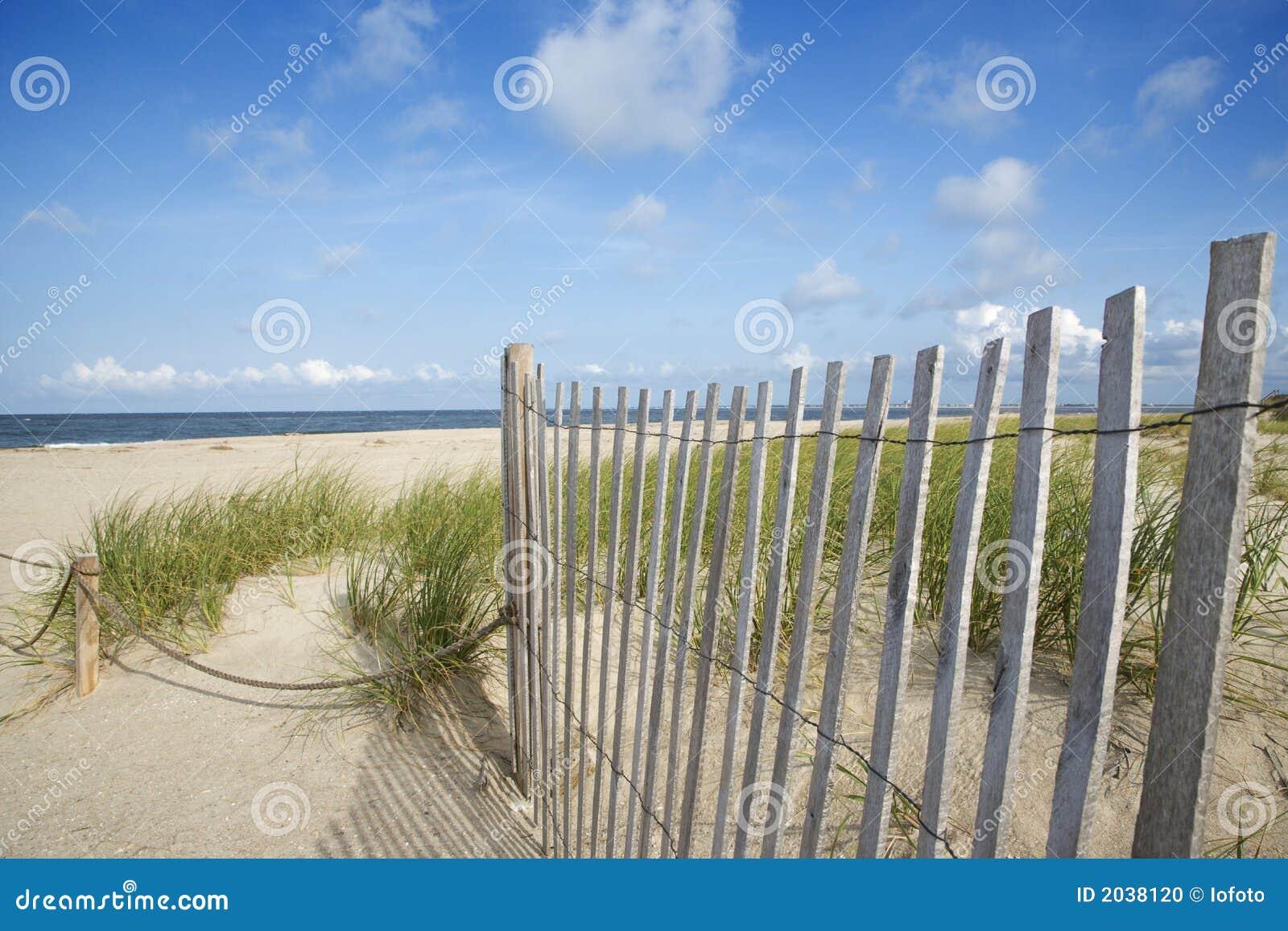 Ridit ut trä för strand staket