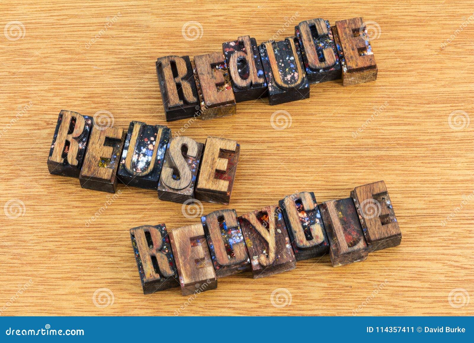 Riduca la riutilizzazione riciclano il messaggio di attivismo