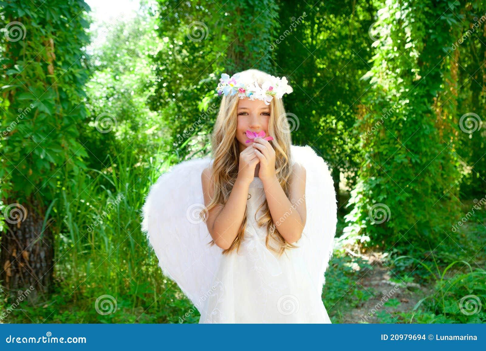 Riechende Rosablume des Engelskindmädchens
