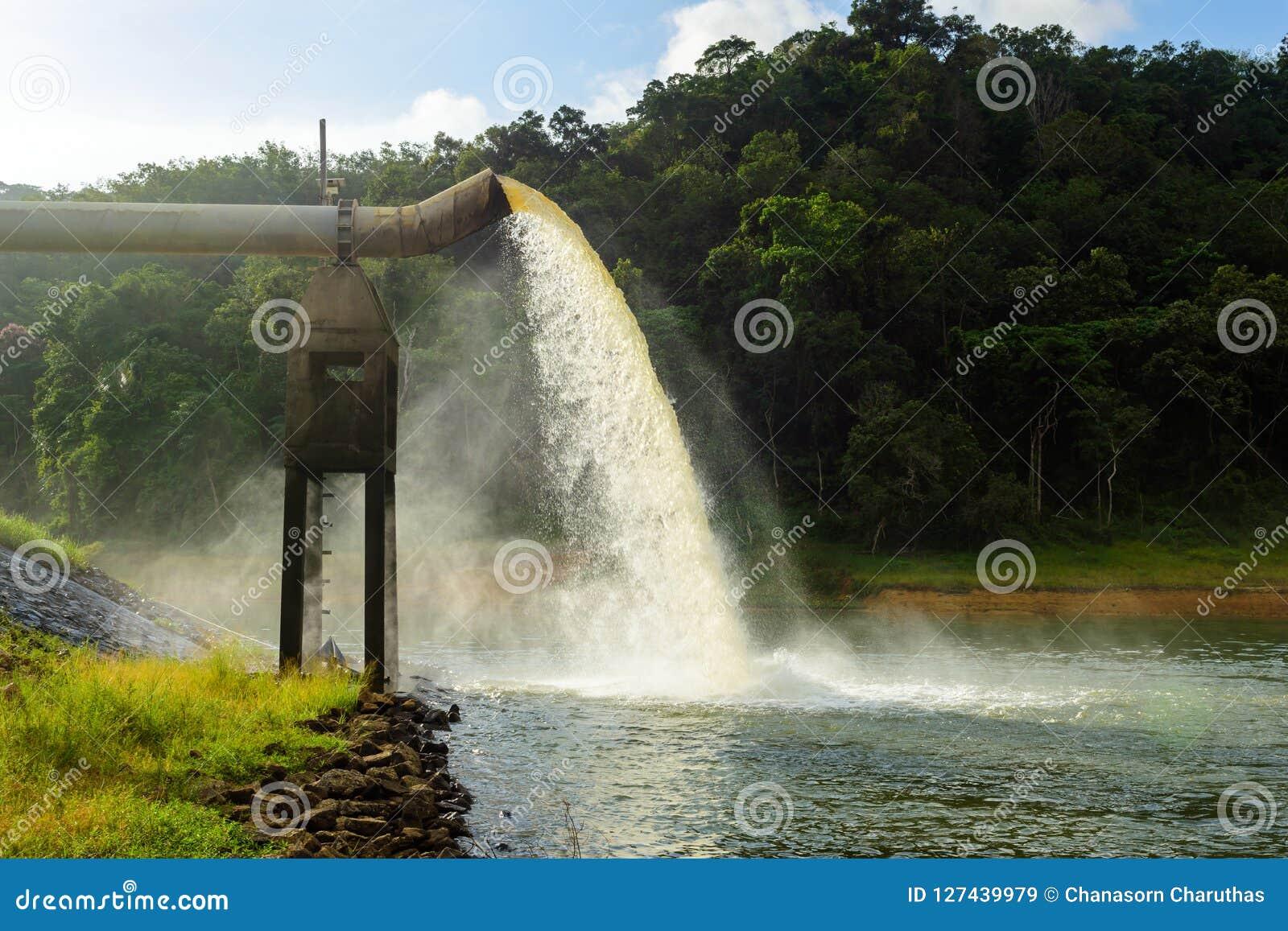 Riegue del dren en la producción de agua