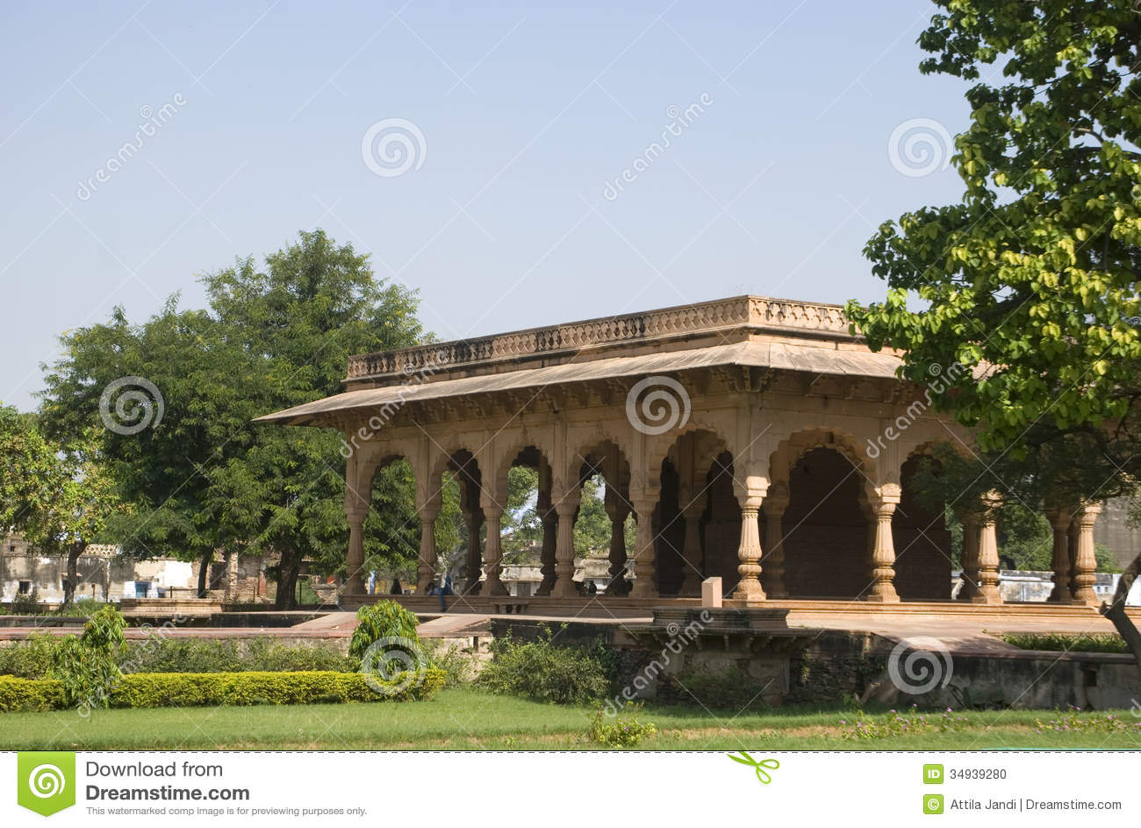 Riegue el palacio, Deeg, Rajasthán, la India