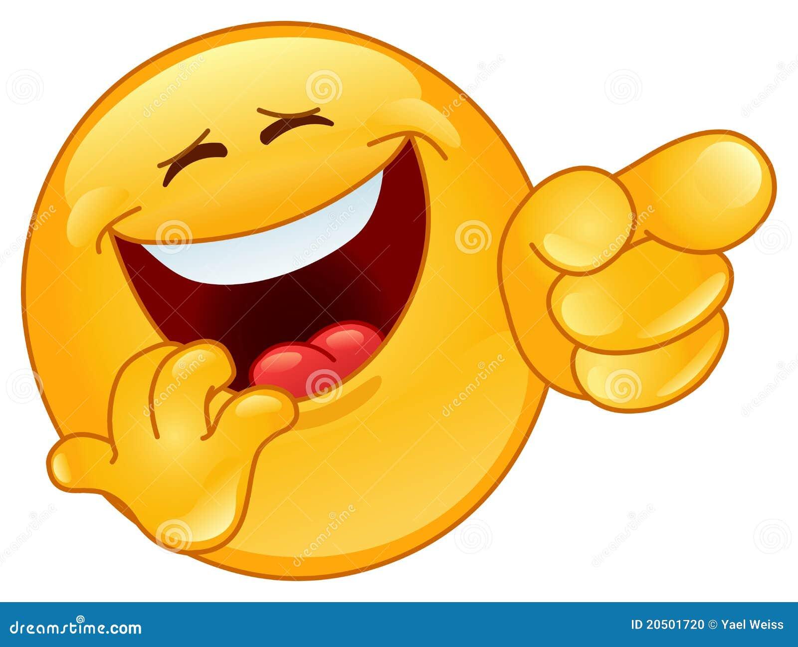 Riendo y señalando el emoticon