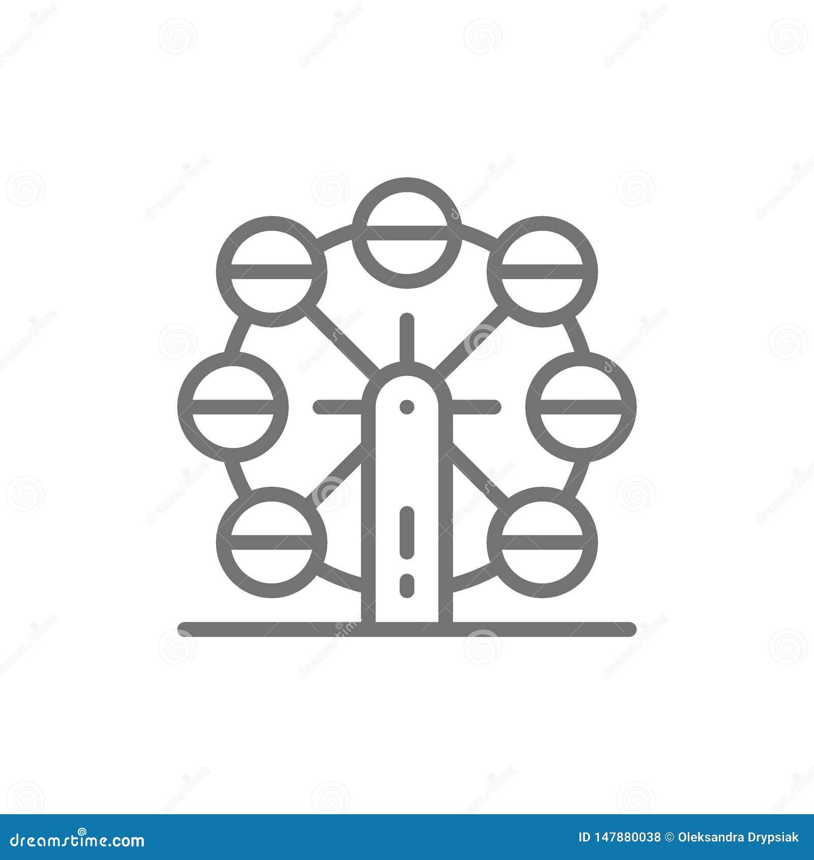 Riesenrad, Kinderanziehungskraftlinie Ikone