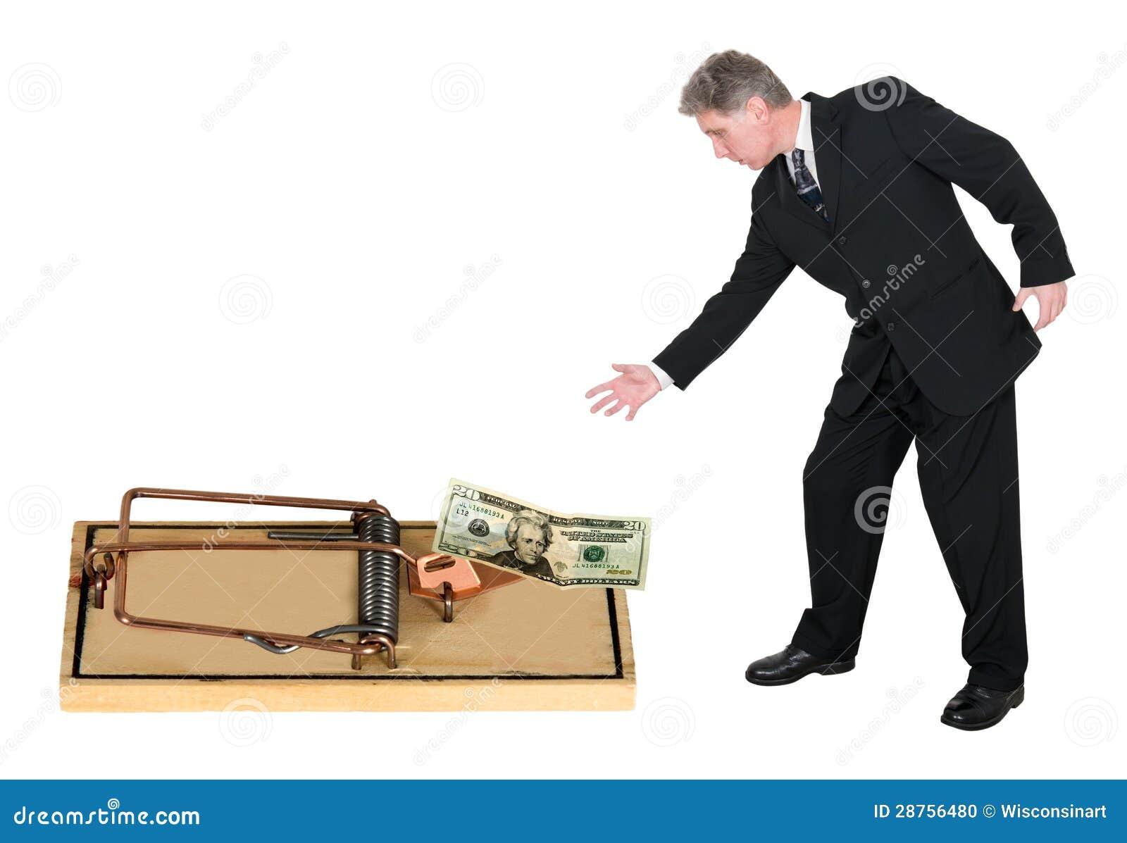 Riesgo, concepto de la avaricia para el asunto, ventas, comercializando