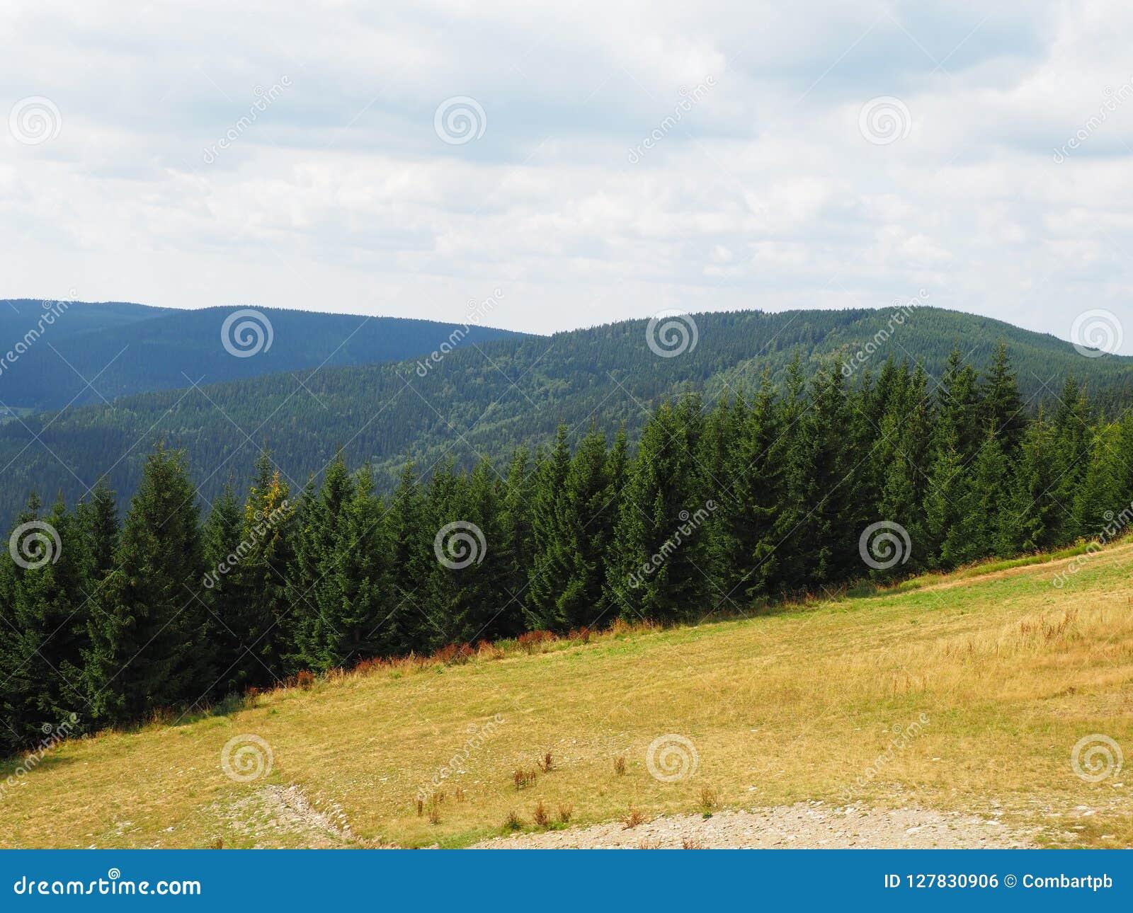 Riesige Berge, Ansicht von der Spitze, West-Sudetes