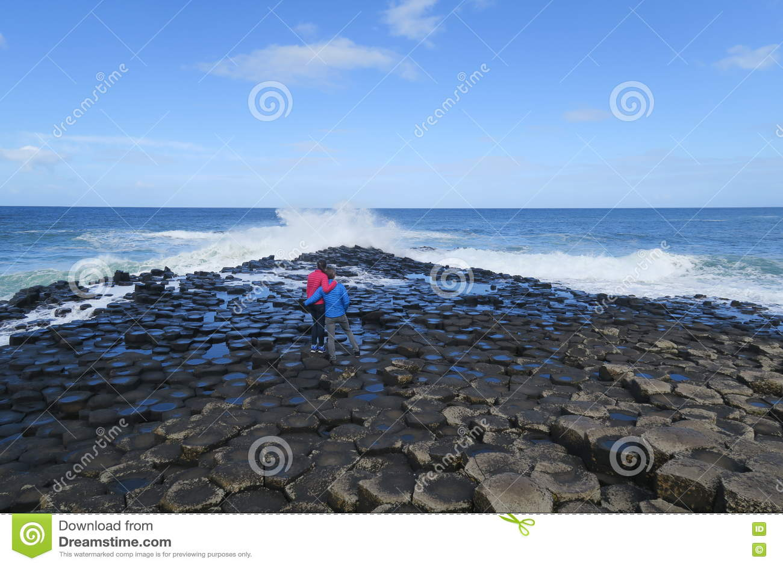 Riesige Damm in Nord-Irland