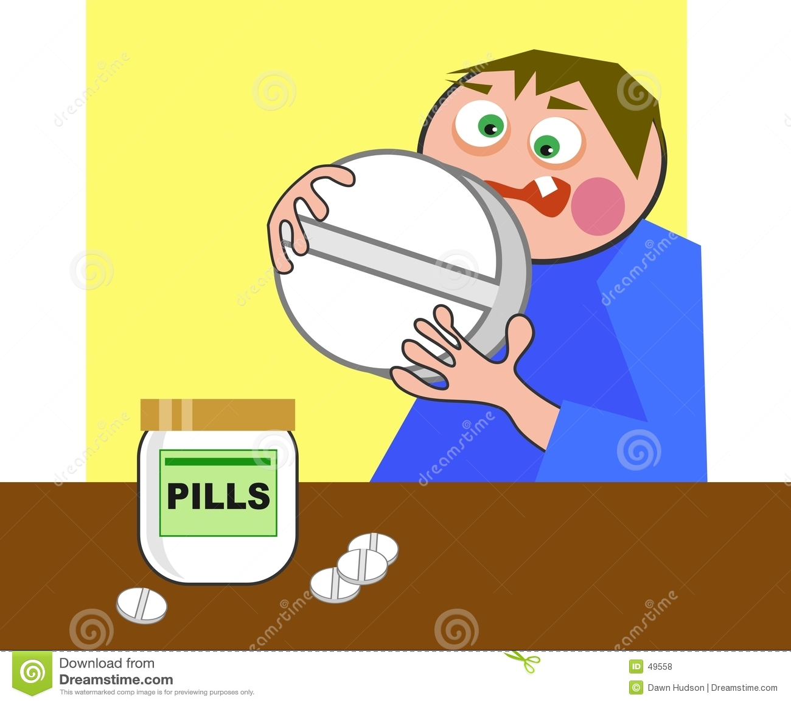 Riesige Pille