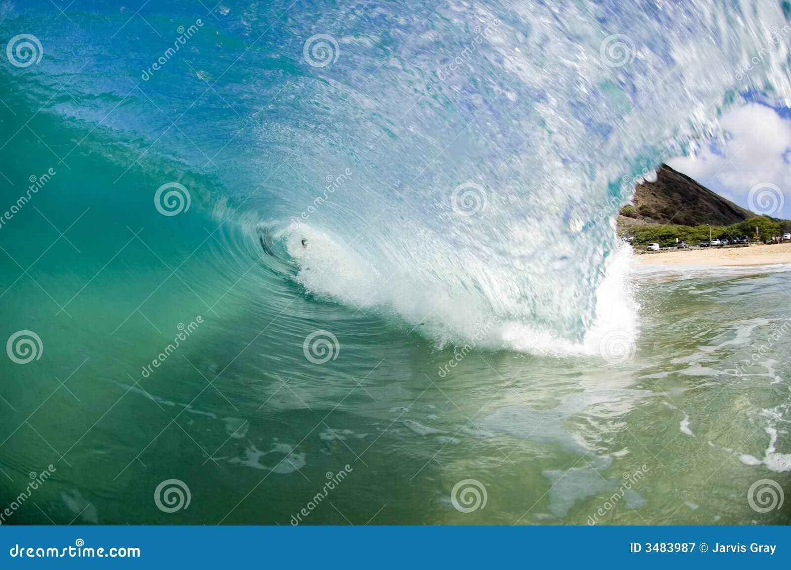Riesige Welle