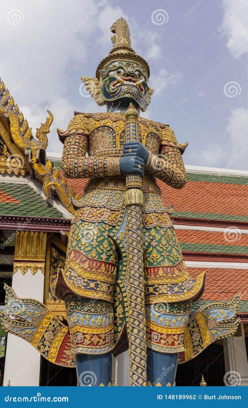 Riesige Yaksha-D?mon-Statue