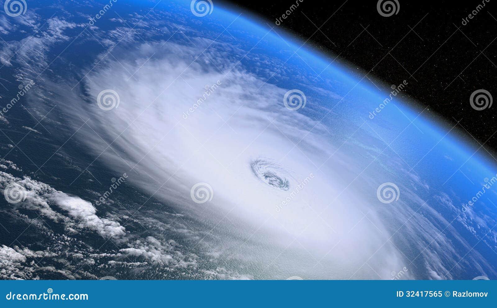 Riesiger Sturm gesehen vom Raum