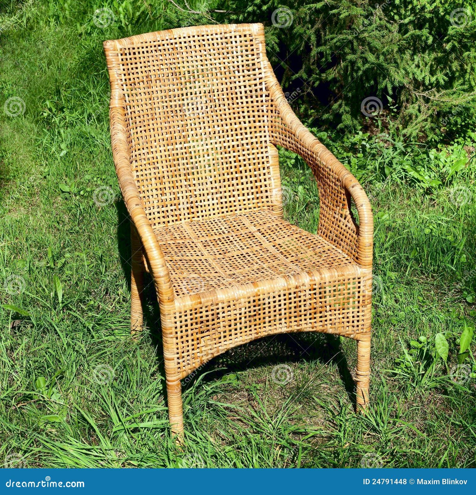 Rieten comfortabele stoel royalty vrije stock foto 39 s beeld 24791448 - Comfortabele stoel ...