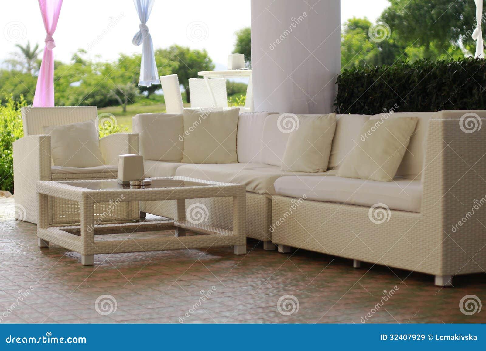 Rieten meubilair