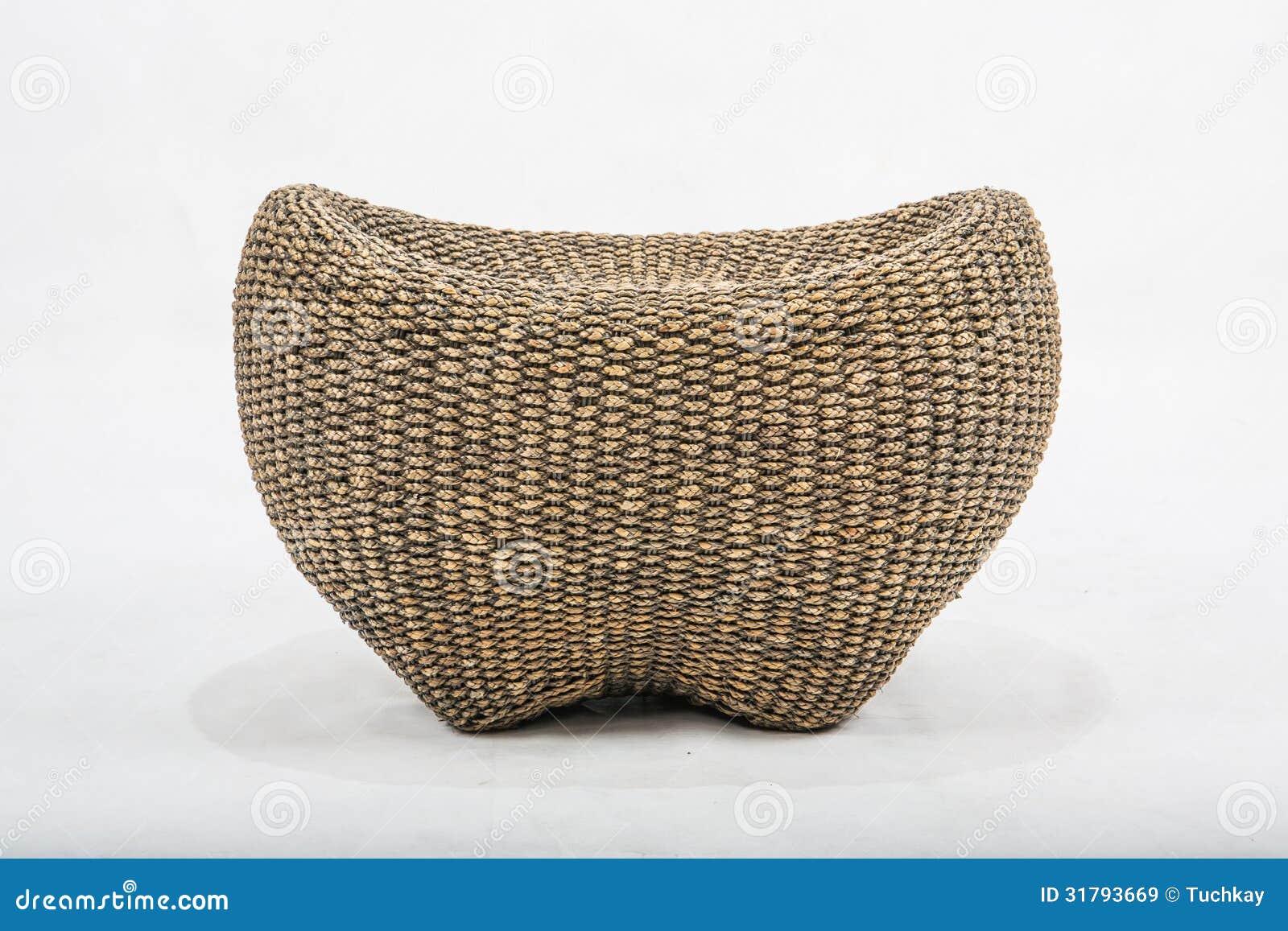 Rieten stoel stock afbeelding. Afbeelding bestaande uit huis