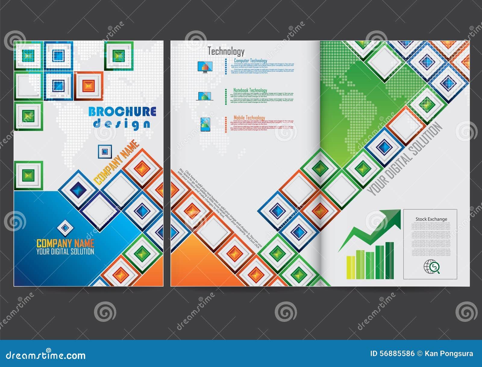 Riferisca la progettazione di broschure della copertura
