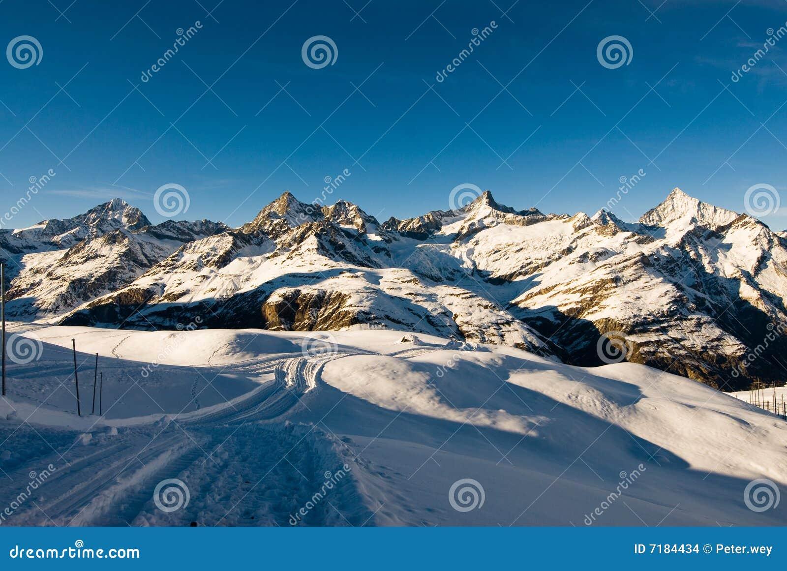 Riffelberg χειμώνας ιχνών