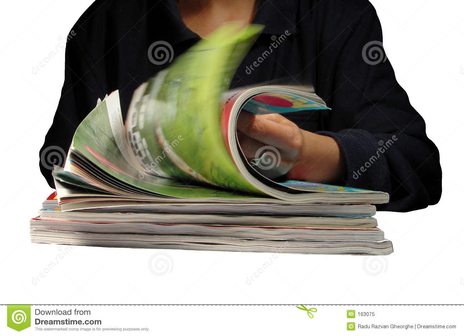Riffling through magazines