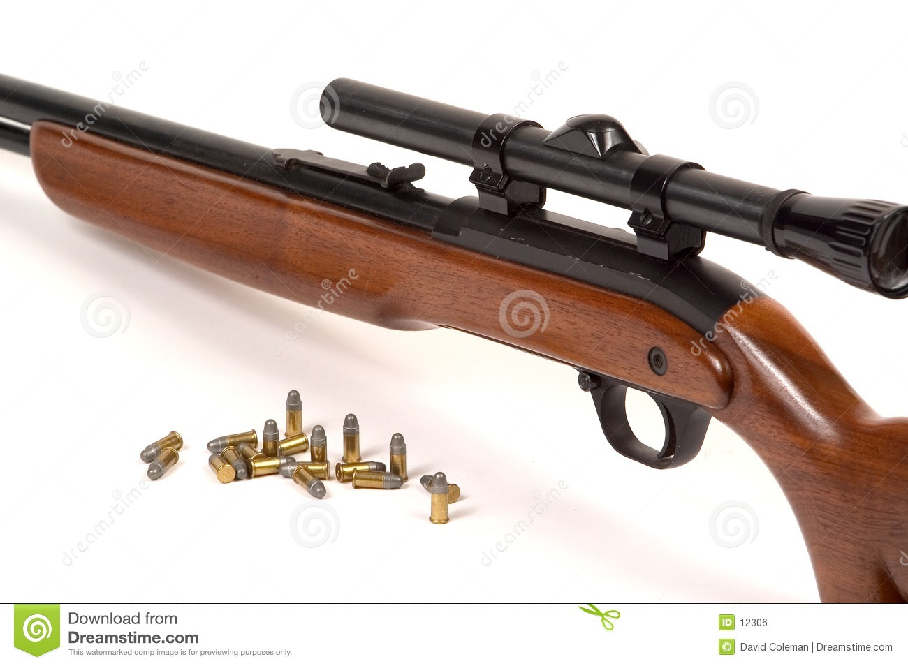 Rifle with ammo