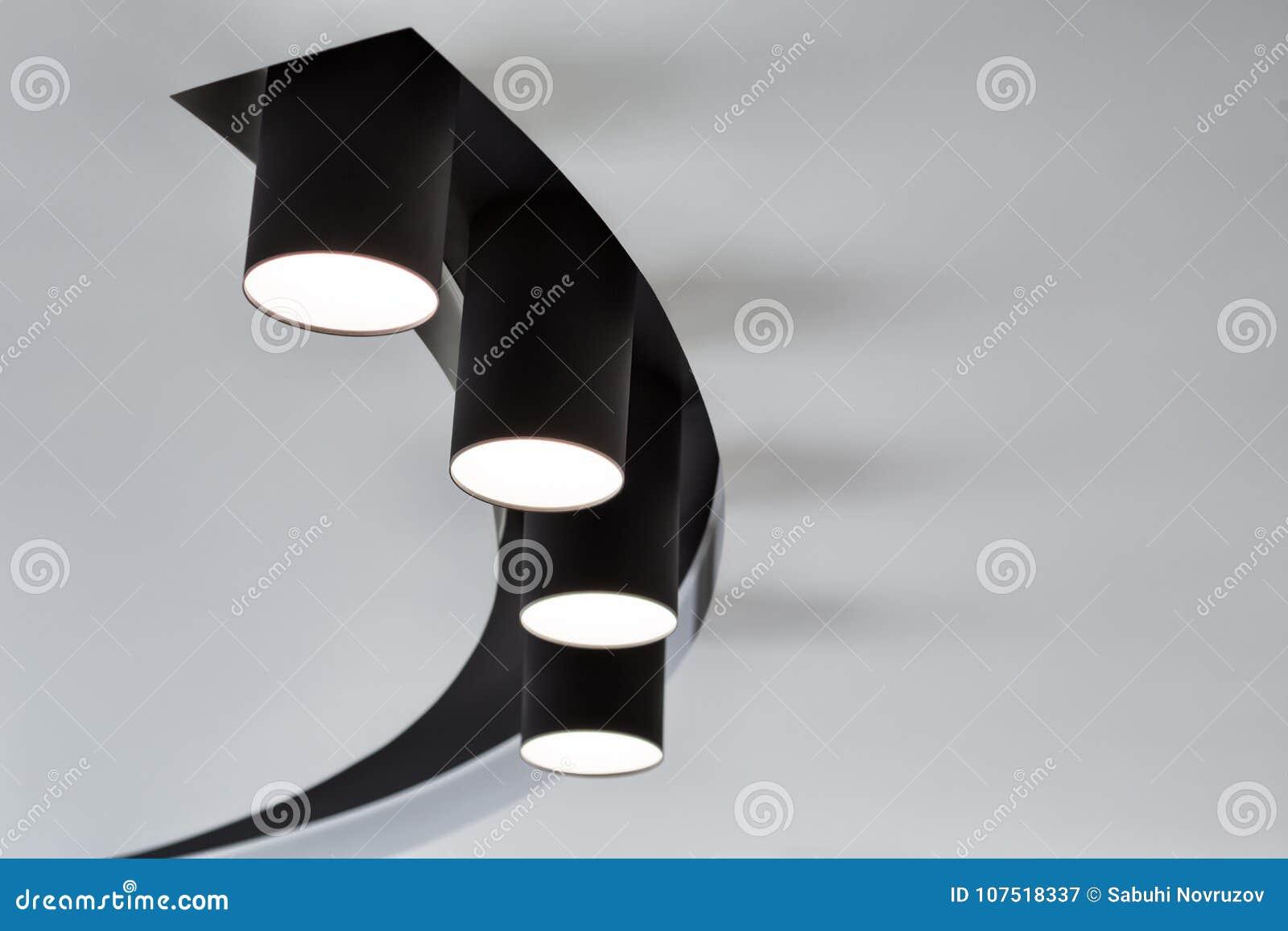 Riflettore della lampada del soffitto riflettori neri sul soffitto