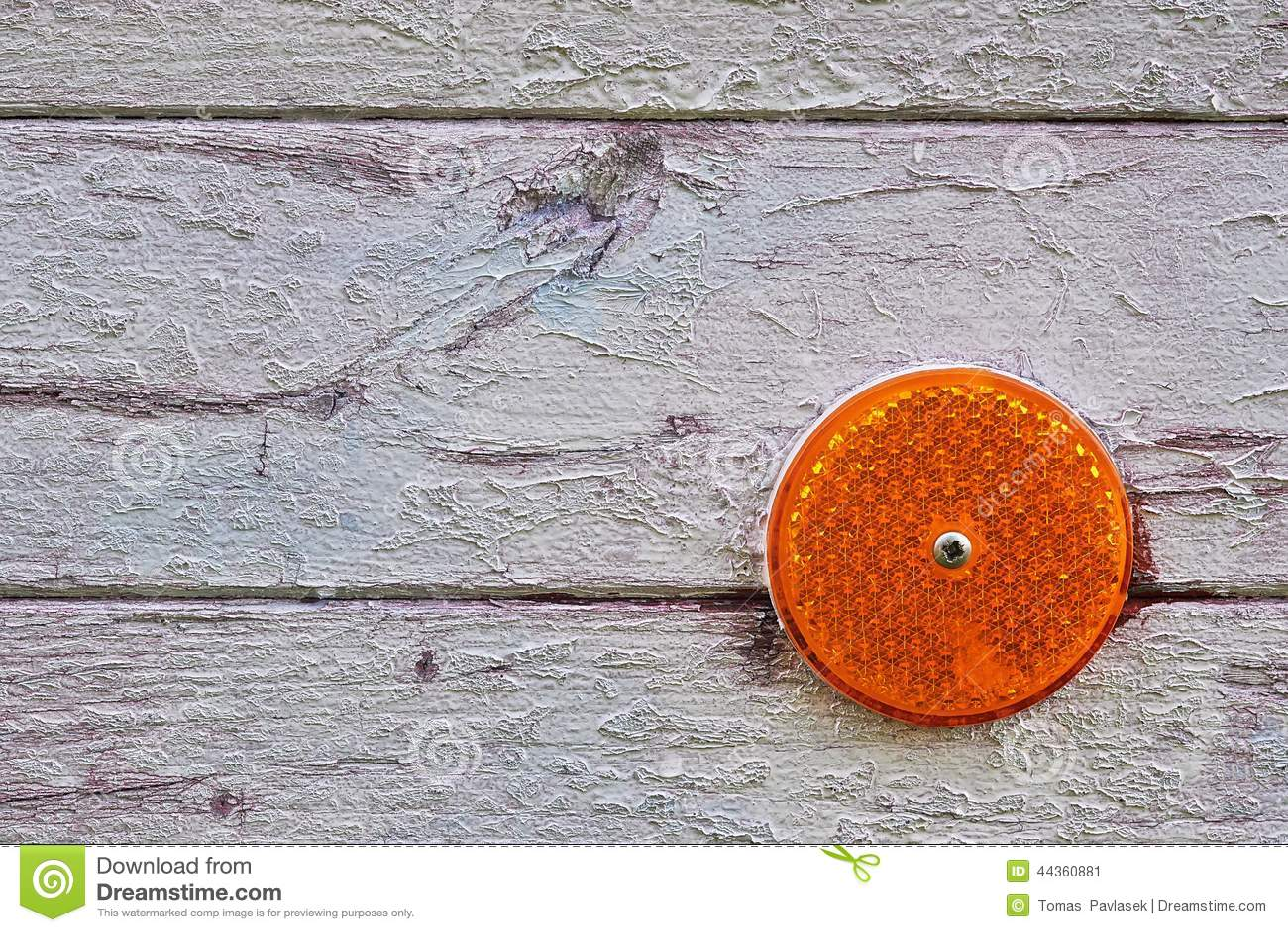 Riflettore riflesso arancio