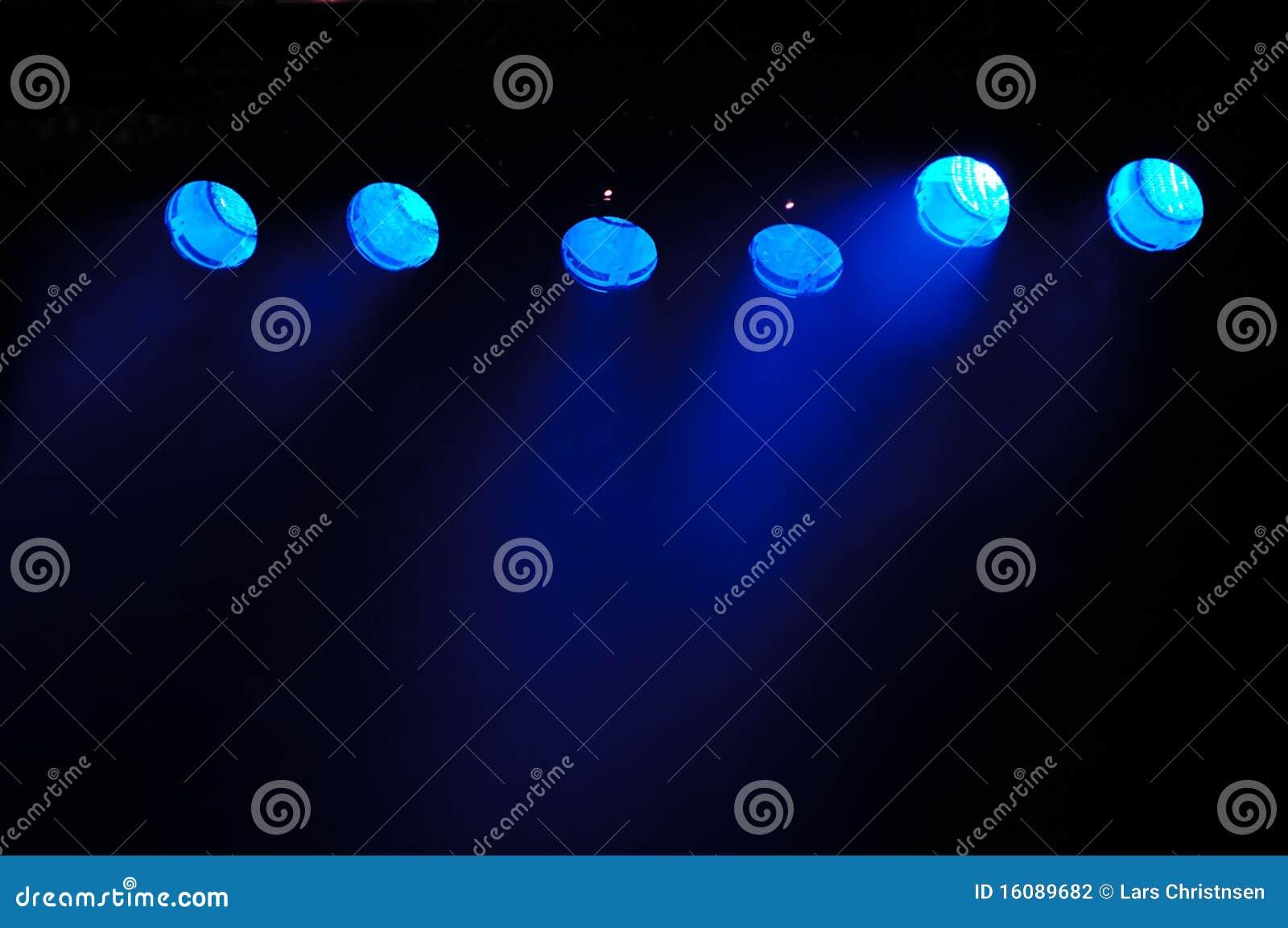 Riflettori blu