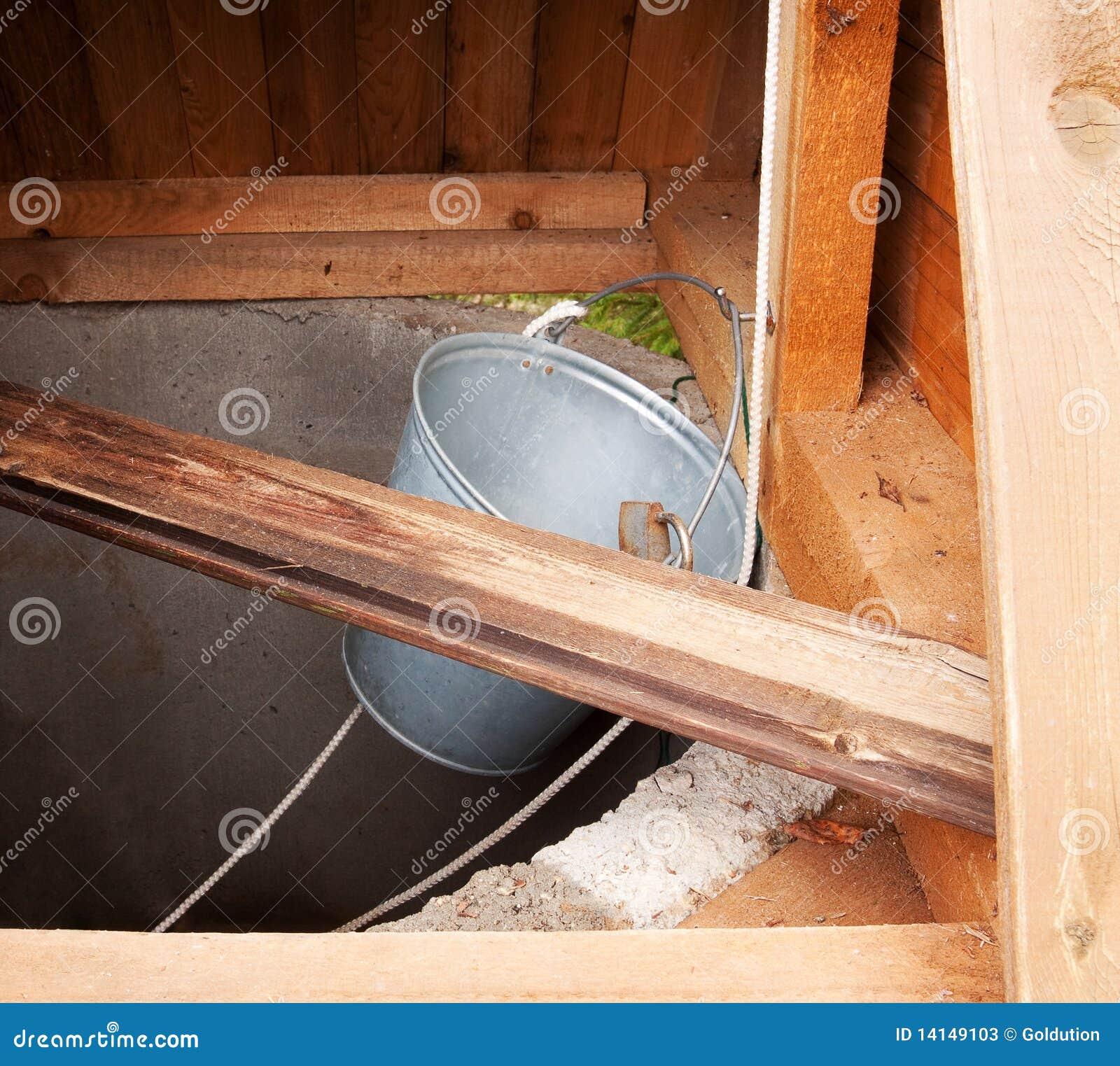 Rifornimento scuro dell acqua di pozzo di tiraggio