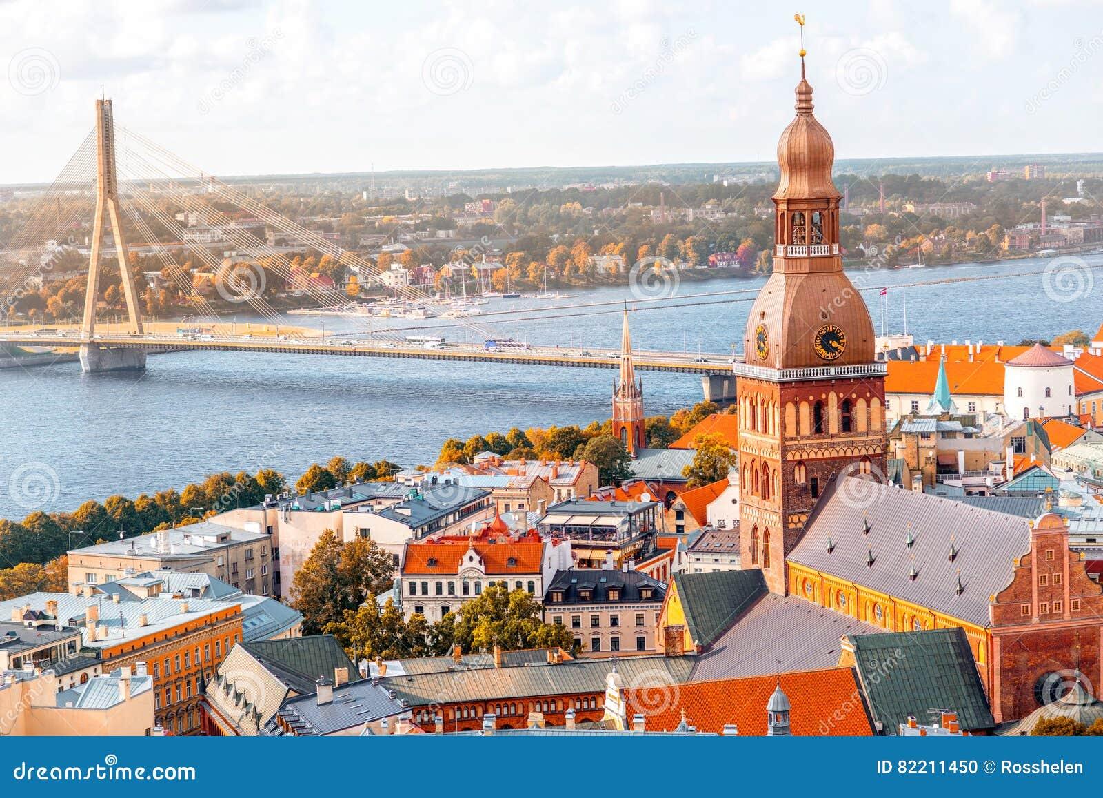 Riga cityscape view