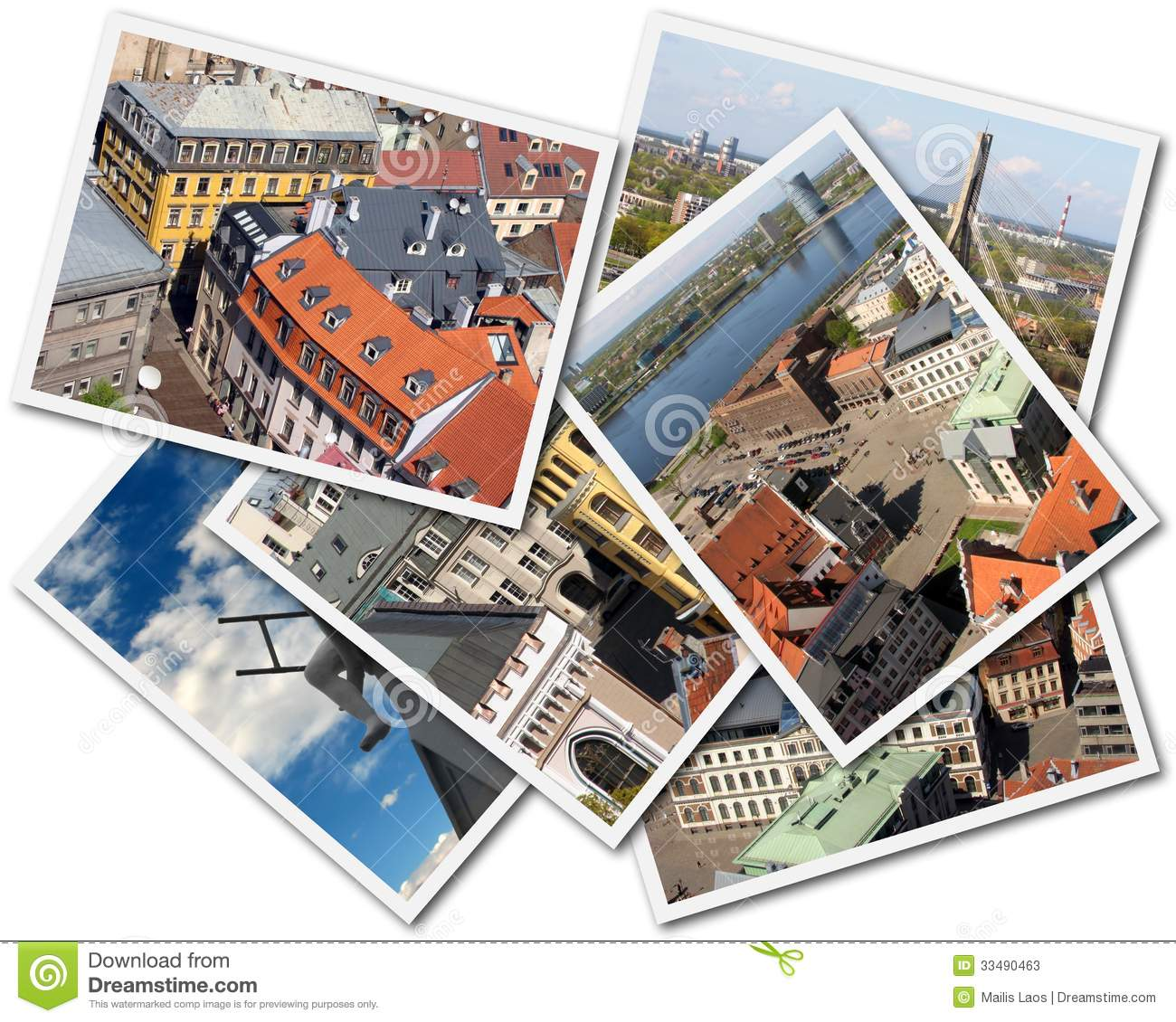 Download Riga Collage stock image. Image of isolated, pictures - 33490463