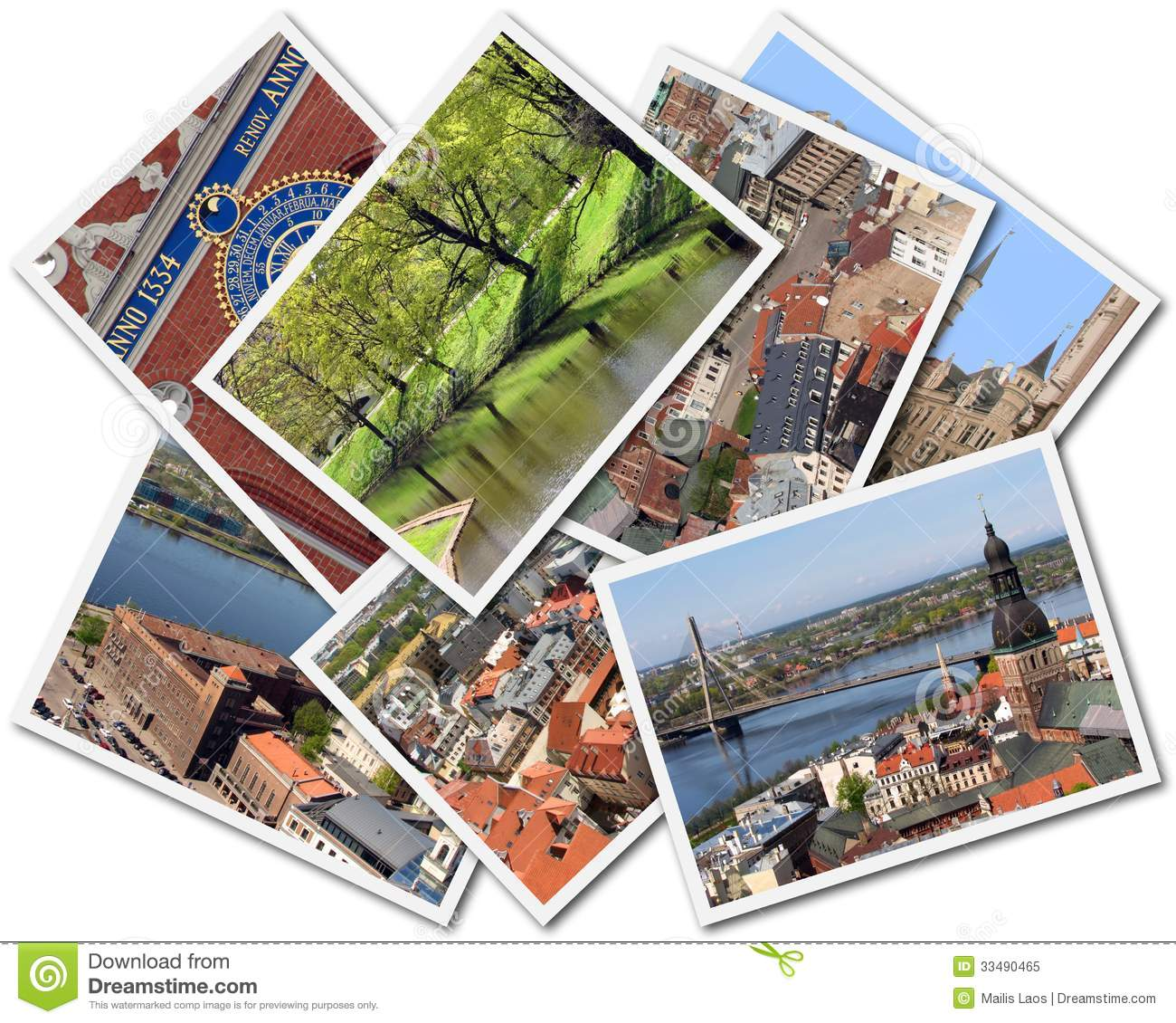 Download Riga Collage stock image. Image of buildings, background - 33490465