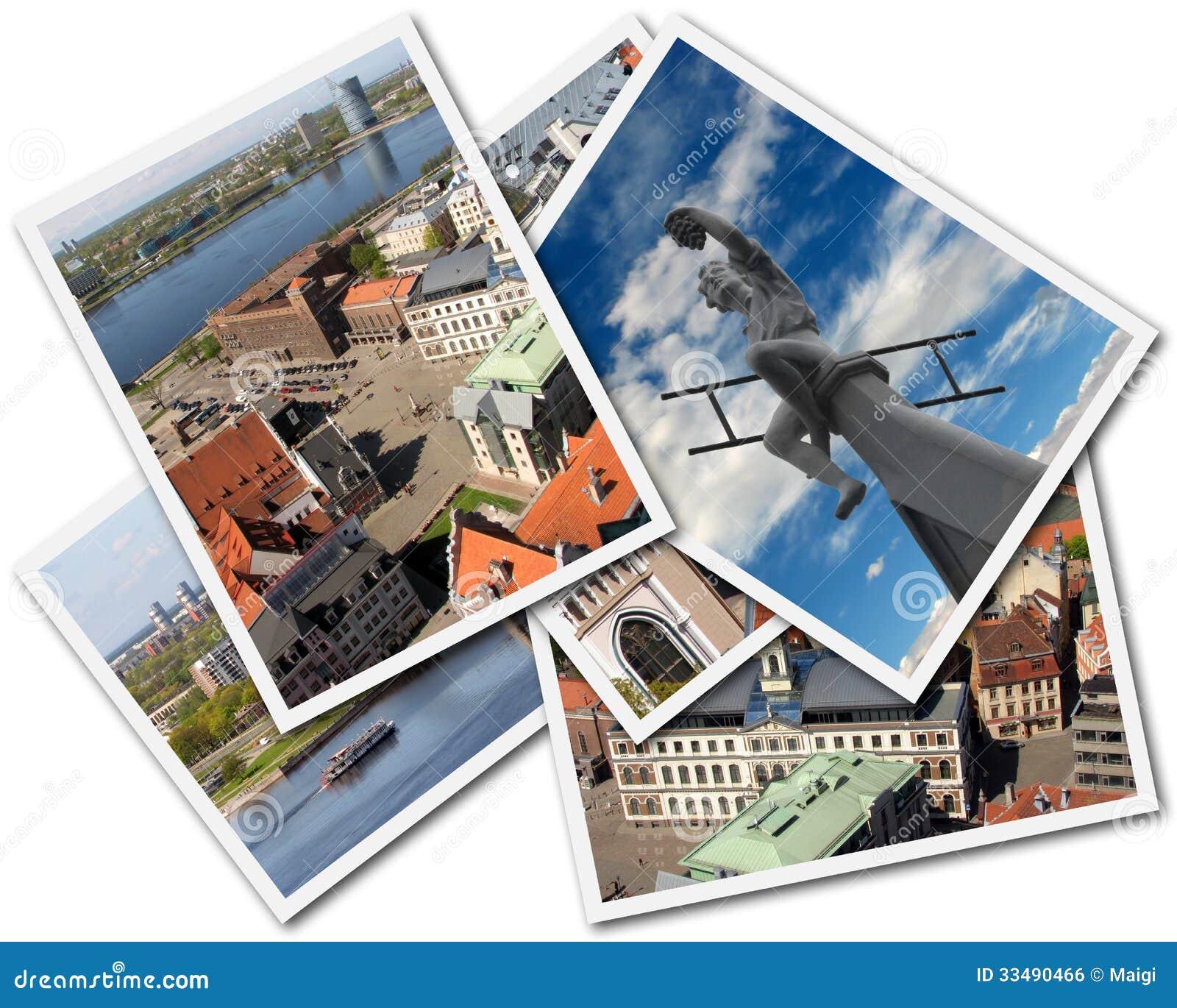 Download Riga Collage stock photo. Image of photograph, cityscape - 33490466