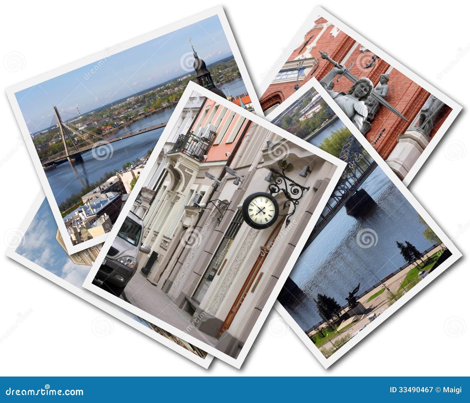 Download Riga Collage stock image. Image of cityscape, latvia - 33490467