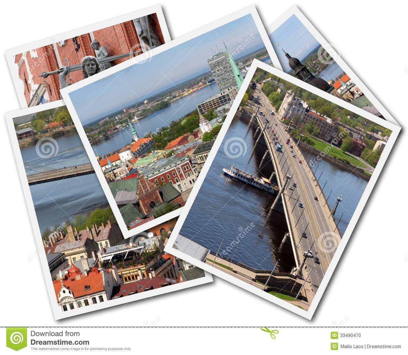 Download Riga Collage stock photo. Image of photography, buildings - 33490470