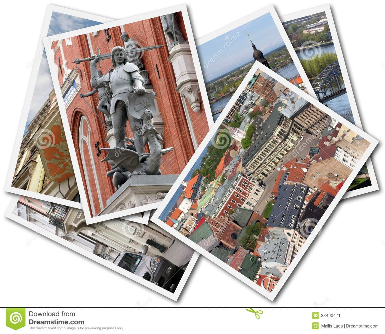 Download Riga Collage stock image. Image of memories, photo, montage - 33490471