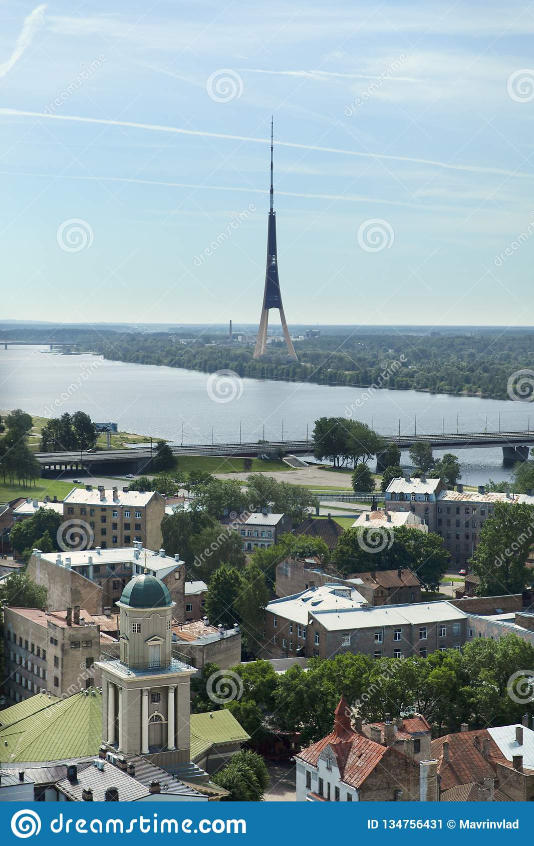 Riga communication tower