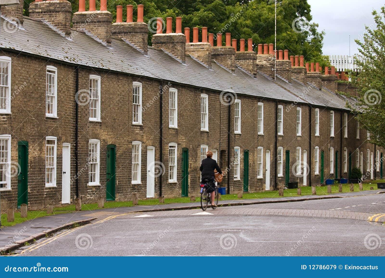 Riga delle case inglesi caratteristiche immagine stock for Case inglesi foto
