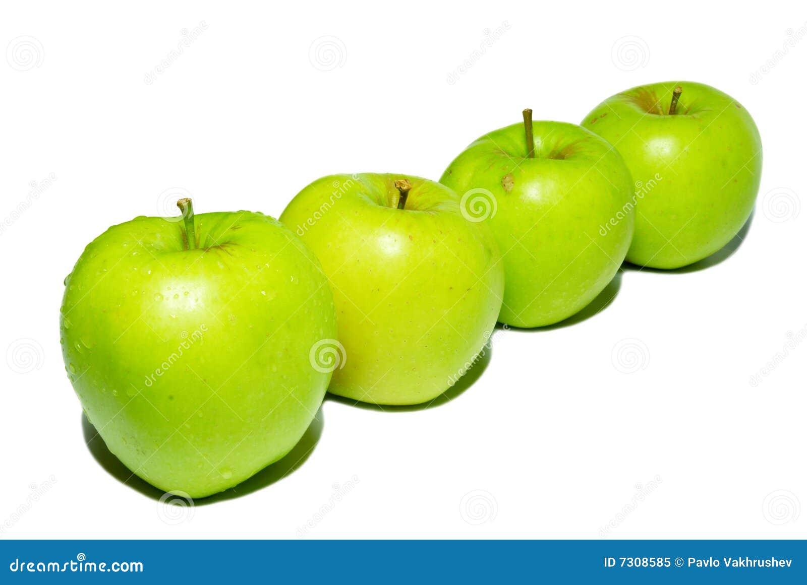 Riga delle mele verdi.
