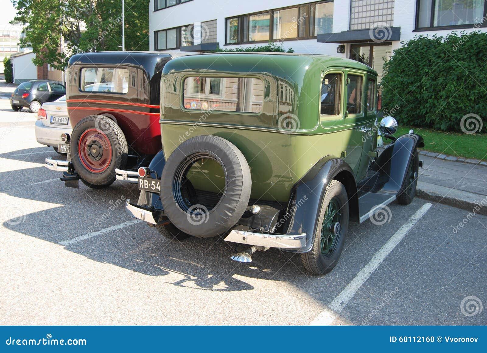 Riga di retro automobili