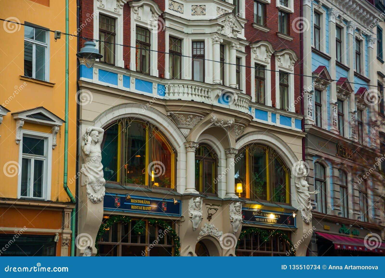 Riga Latvia Art Nouveau Architecture In Riga Beautiful