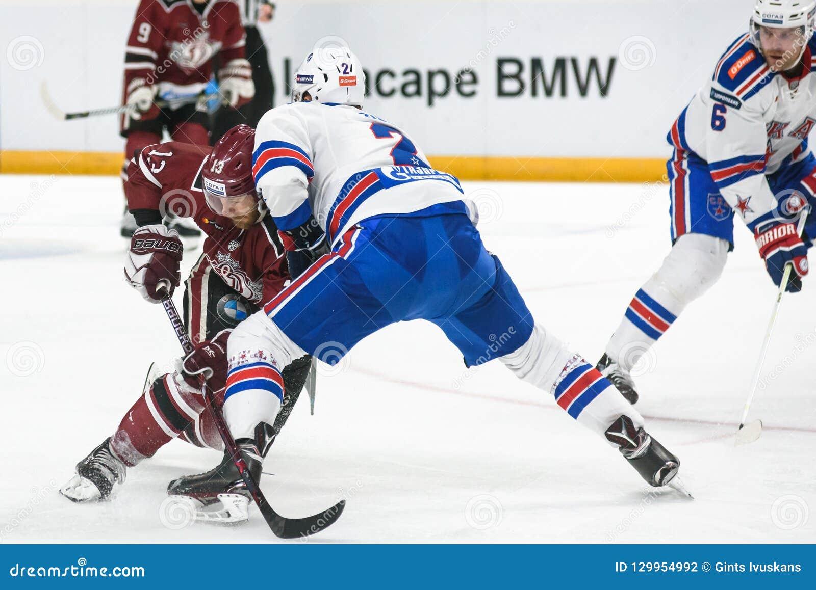 Gunars Skvorcovs L And Artyom Zub R, During Kontinental Hockey ...